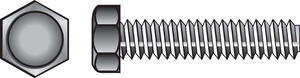 Hillman  1/4 in. Dia. x 1 in. L Zinc Plated  Steel  Hex Tap Bolt  100 pk