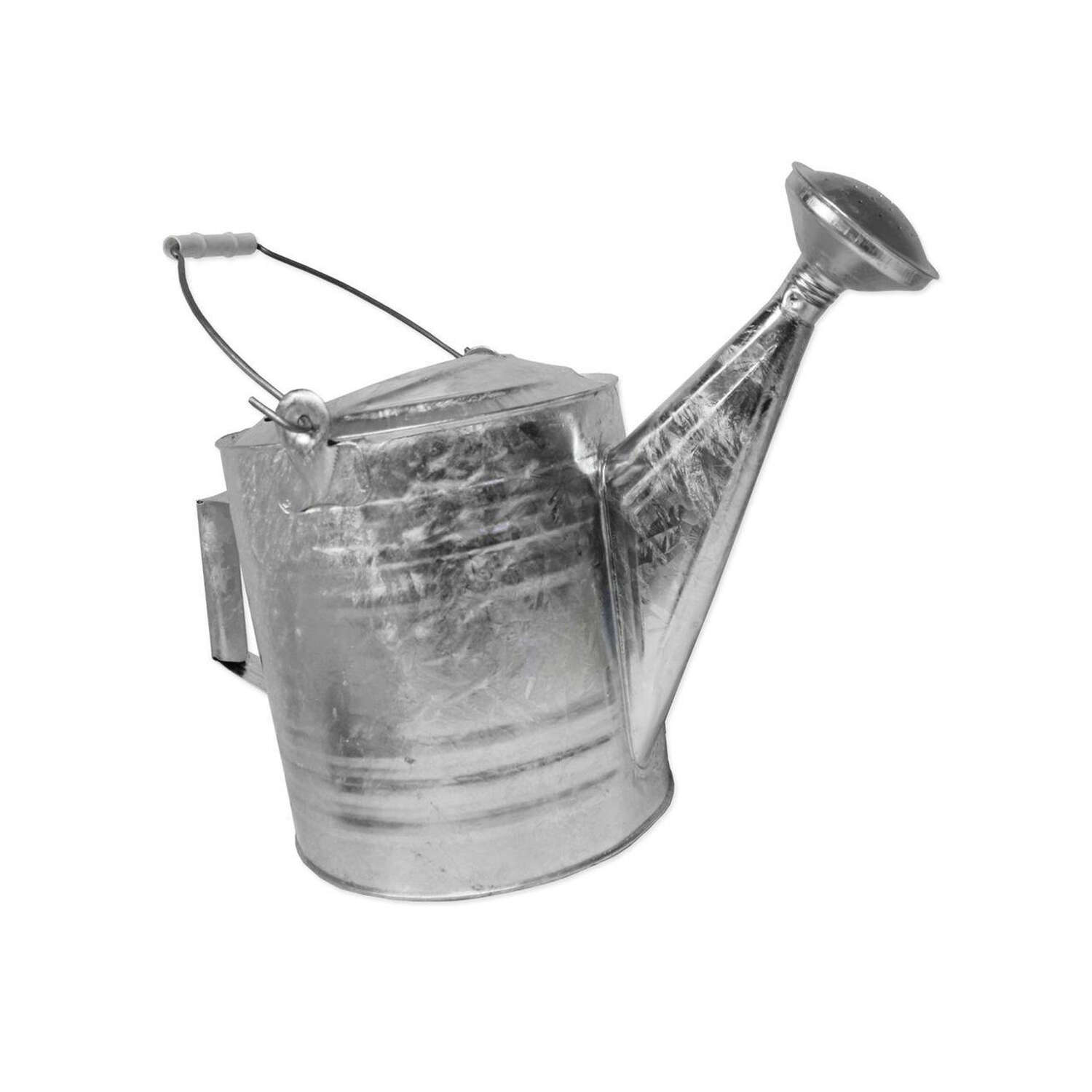 Behrens  Silver  8 qt. Steel  Watering Can