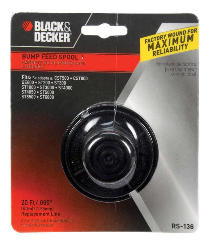 Black and Decker  0.065 in. Dia. x 20 ft. L Replacement Line Trimmer Spool