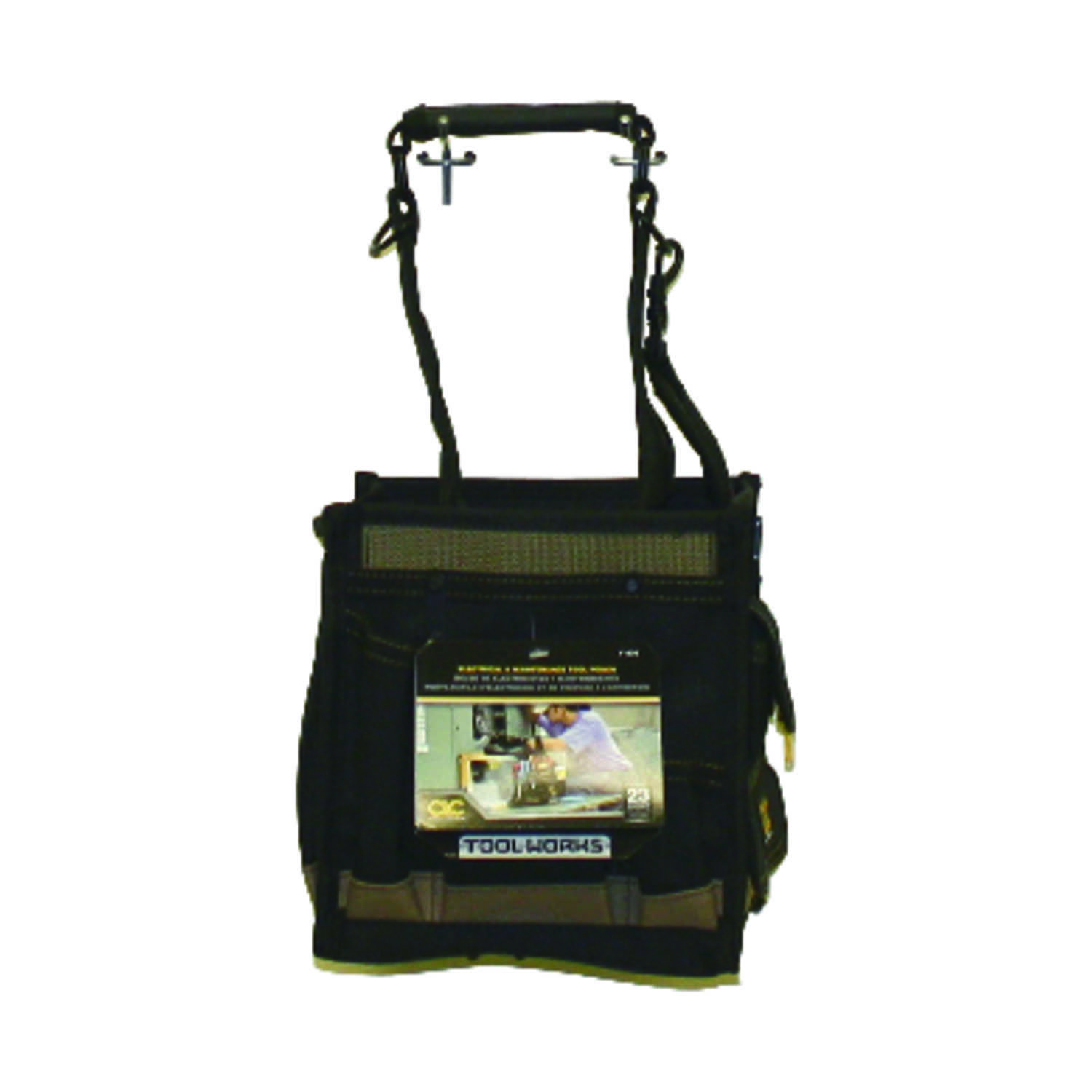 CLC Work Gear  8.25 in. W x 16.25 in. H Polyester  Tool Pouch  25 pocket Black/Tan  1 pc.