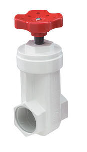 NDS  1-1/2   Lead-Free White  PVC  Gate Valve