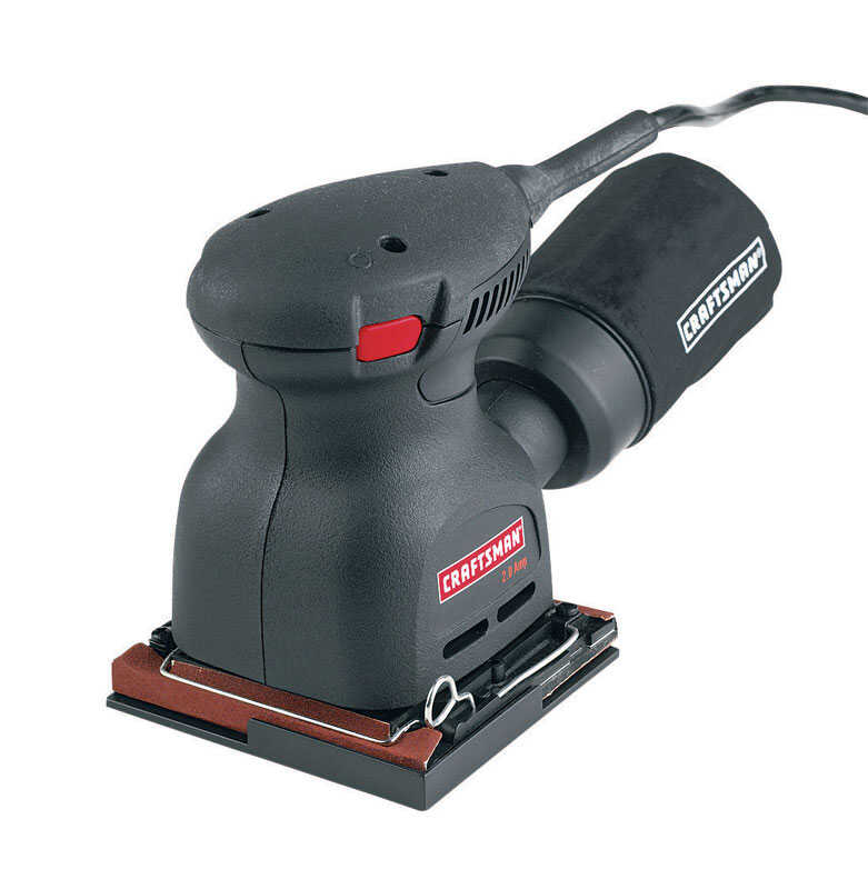 Craftsman  2 amps Corded  1/4 Sheet  Pad Sander  5 in. L x 3 in. W 14000 rpm