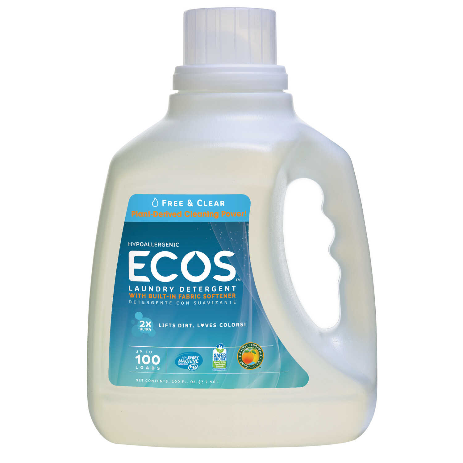 ECOS  Earth Friendly Products  No Scent Laundry Detergent  Liquid  100 oz.