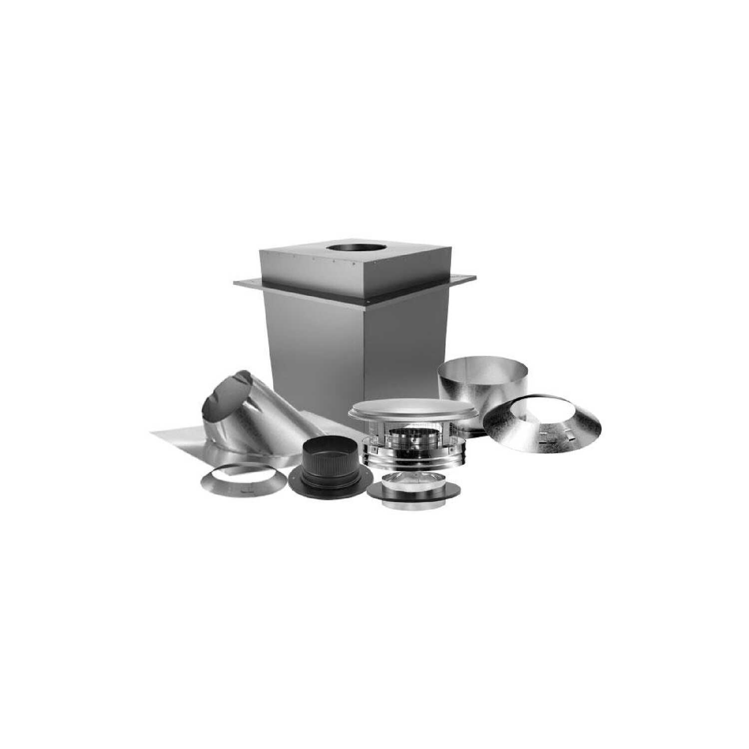 DuraVent  DuraPlus  6 in. Stainless Steel  Stove Pipe Ceiling Support Kit