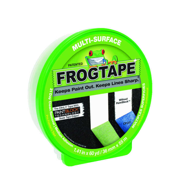 FrogTape  1.41 in. W x 60 yd. L Green  Medium Strength  Painter's Tape  1 pk
