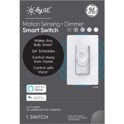 C by GE  Single Pole or 3-way  Smart  Motion Sensing and Dimmer Switch  White  1 pk