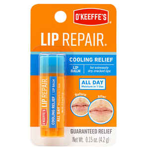 O'Keeffe's  Cooling Lip Repair  No Scent Lip Balm  0.15 oz. 1 pk
