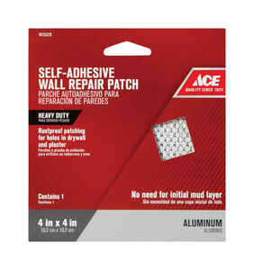 Ace  0.33 ft. L x 4 in. W Reinforced Aluminum  White  Wall Repair Patch  Self Adhesive