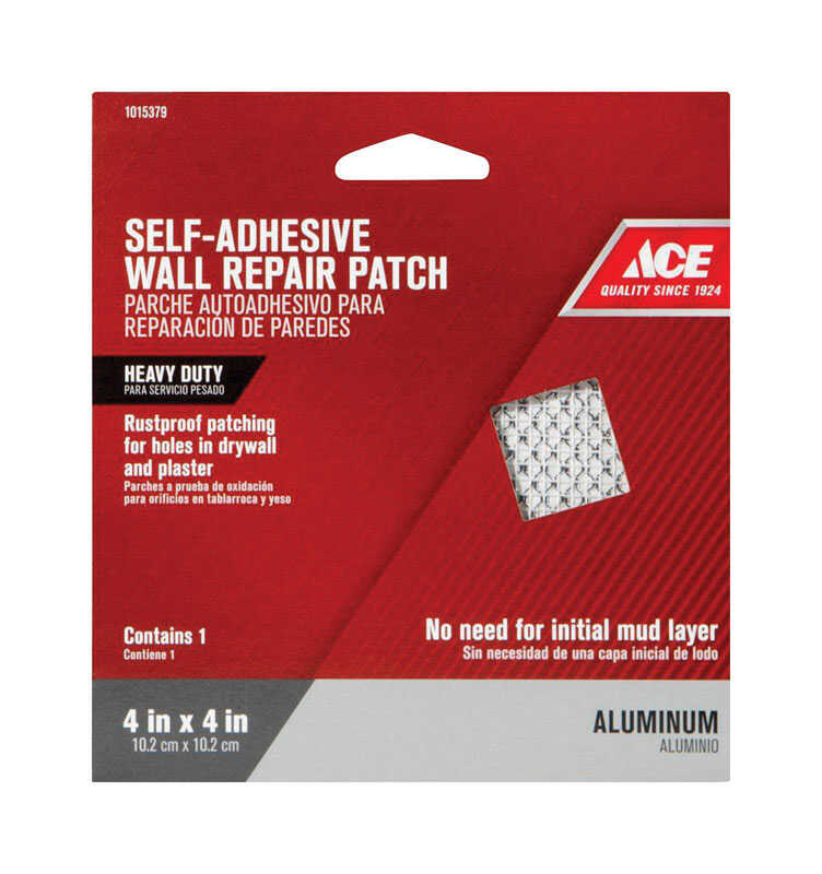 Ace  0.33 ft. L x 4 in. W Reinforced Aluminum  White  Self Adhesive Wall Repair Patch