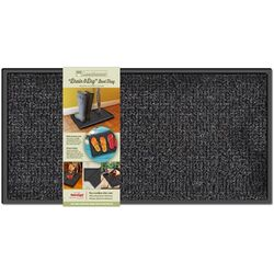 GrassWorx Drain and Dry 28 in. L x 14 in. W Black Nonslip Boot/Shoe Scraper