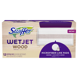 Swiffer  WetJet Wood  11.3 in. W x 5.4 in. L Cloth  Mop Refill  12 pk