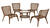 Living Accents  Brown  Wicker  Chat Chair