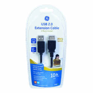 GE  10 ft. L USB Extension Cable