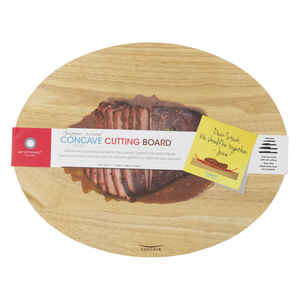 Architec  Gripper Wood  14 in. W x 18 in. L Natural  Beige  Rubberwood  Concave Carving Board