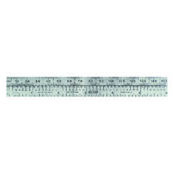 General Tools 6 in. L x 3/4 in. W Stainless Steel Precision Pocket Rule Metric