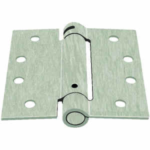 Ace  4 in. L Satin Nickel  Door Hinge  1 pk Nickel