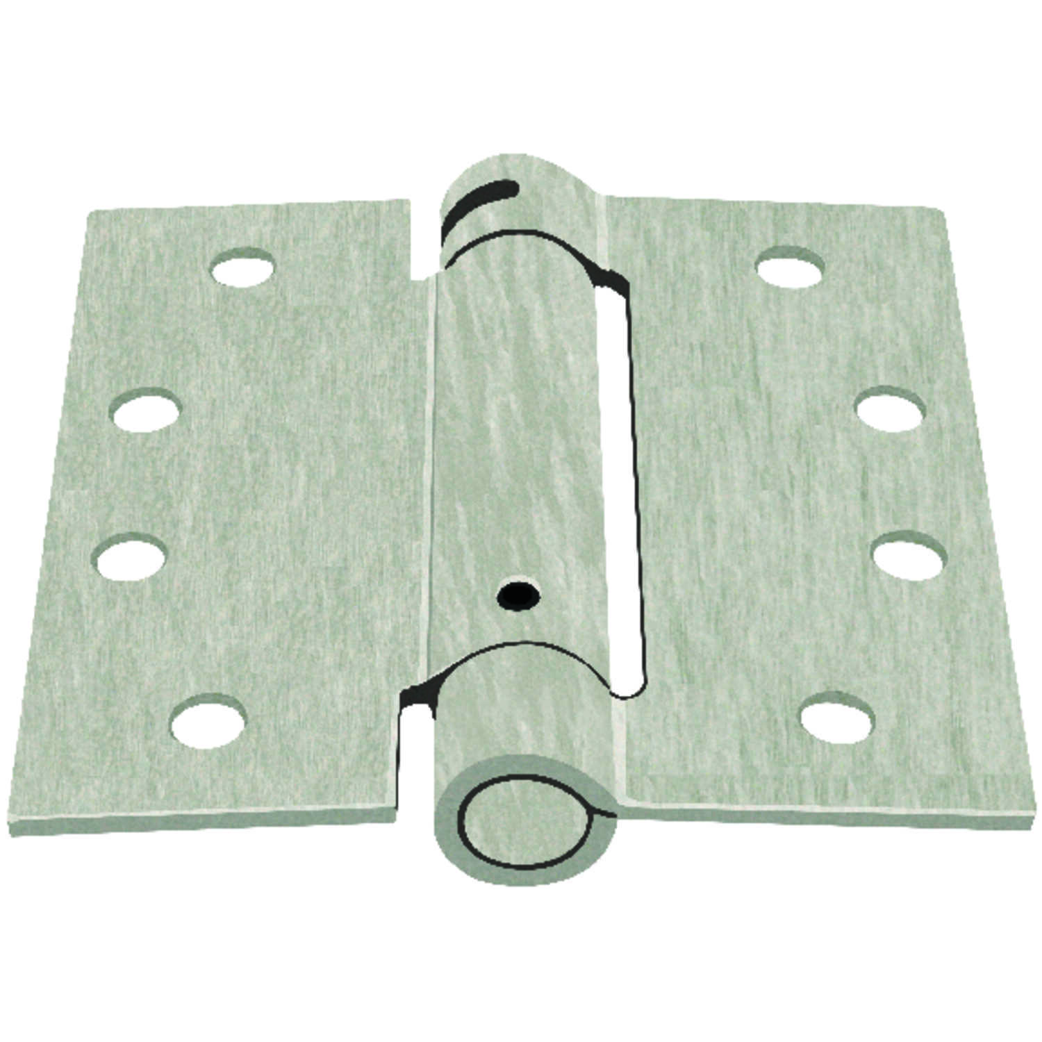 Ace  4 in. L Satin Nickel  Nickel  Door Hinge  1 pk