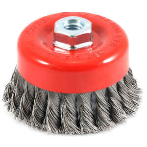 Forney  4 in. Dia. x 5/8 in.  Knotted  Steel  Cup Brush  1 pc.