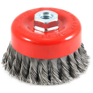 Forney  4 in. Dia. x 5/8 in.  Steel  Cup Brush  Knotted  1 pc.