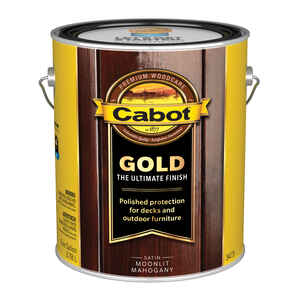 Cabot  Gold  Transparent  Satin  3473 Moonlit Mahogany  Oil-Based  Natural Oil/Waterborne Hybrid  St