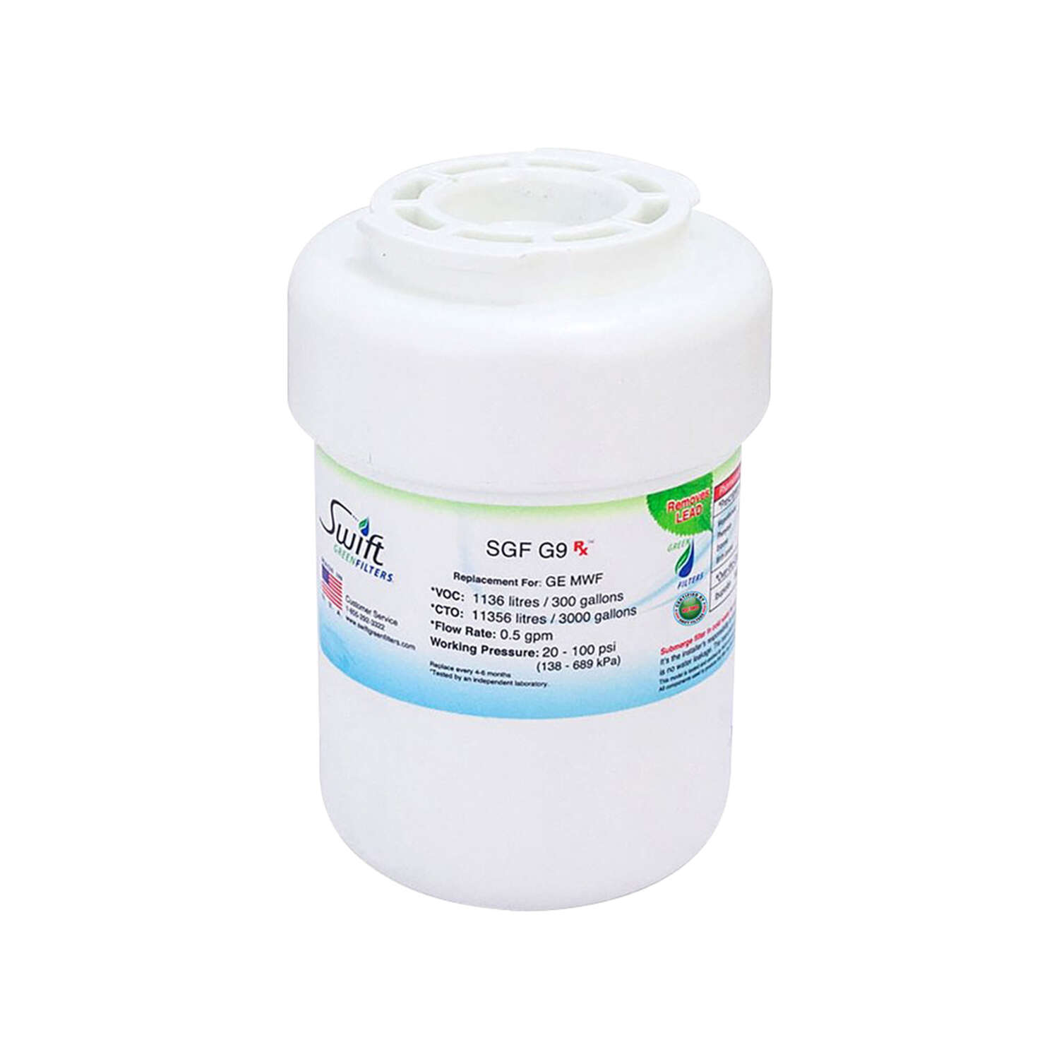 Swift Green Filters Refrigerator Replacement Filter For GE MWF