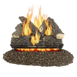 Pleasant Hearth Arlington Ash  Fireplace Log Set  56 lb.