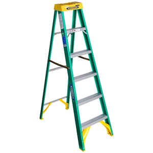 Werner  6 ft. H x 22 in. W Fiberglass  Type II  225 lb. capacity Step Ladder