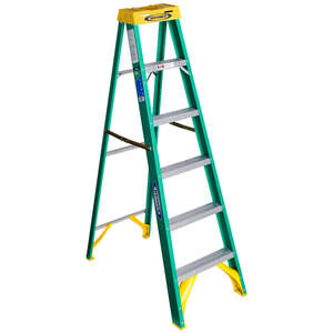 Werner  6 ft. H x 22 in. W Fiberglass  Type II  225 lb. Step Ladder