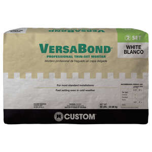 Custom Building Products  VersaBond  White  Modified Thin-Set Mortar  50 lb.