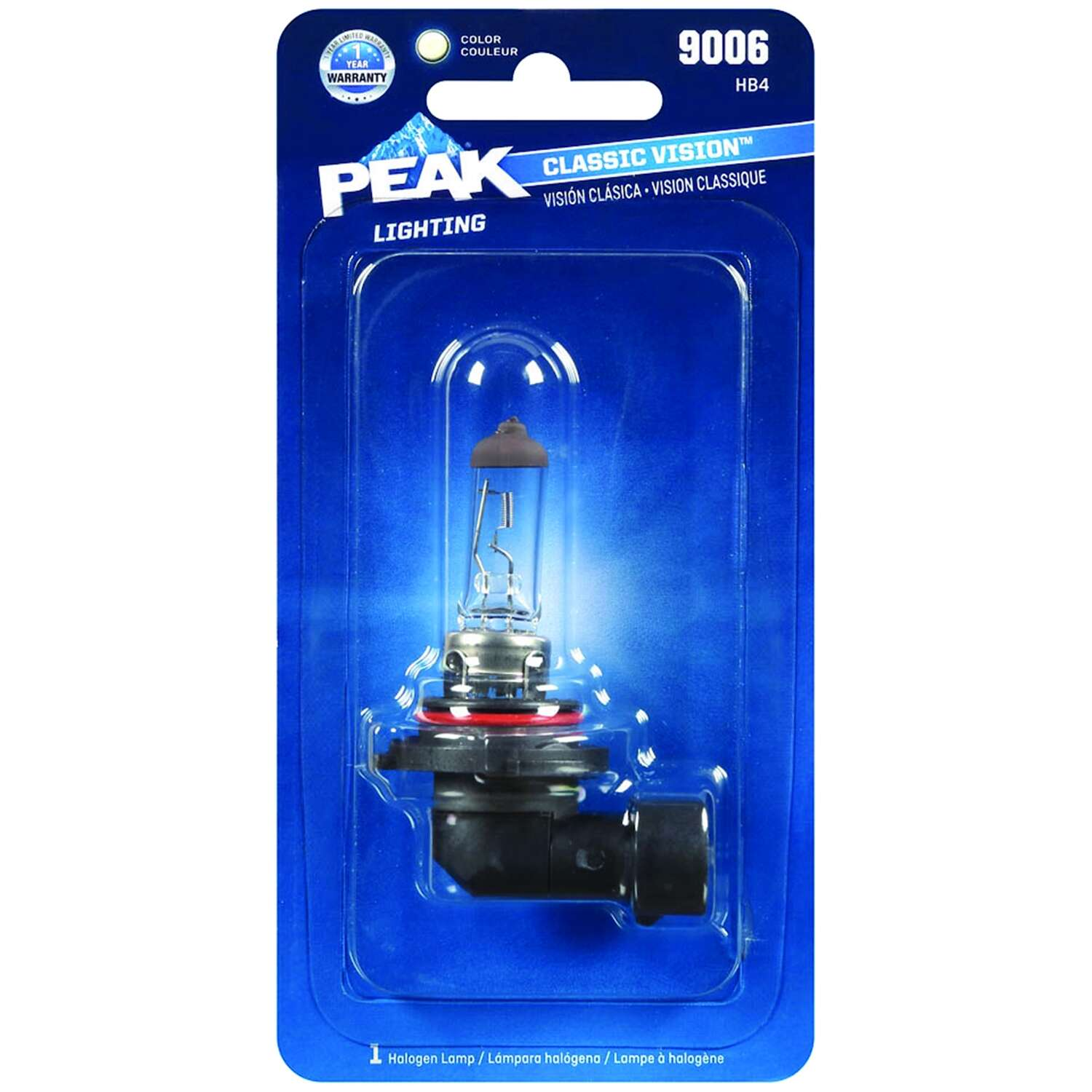 Peak  Classic Vision  Halogen  Automotive Bulb  9006 HB4