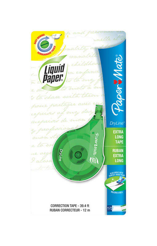 Papermate  White  Correction Tape  0.1 oz. 1 pk