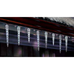 Celebrations  LED  Dripping Icicle  Light Set  Cool White  9 ft. 10 lights