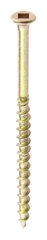 Squeeeeek No More  No. 8   x 3 in. L Square  Bugle  Zinc Plated  Steel  Scored Screws  50 pk