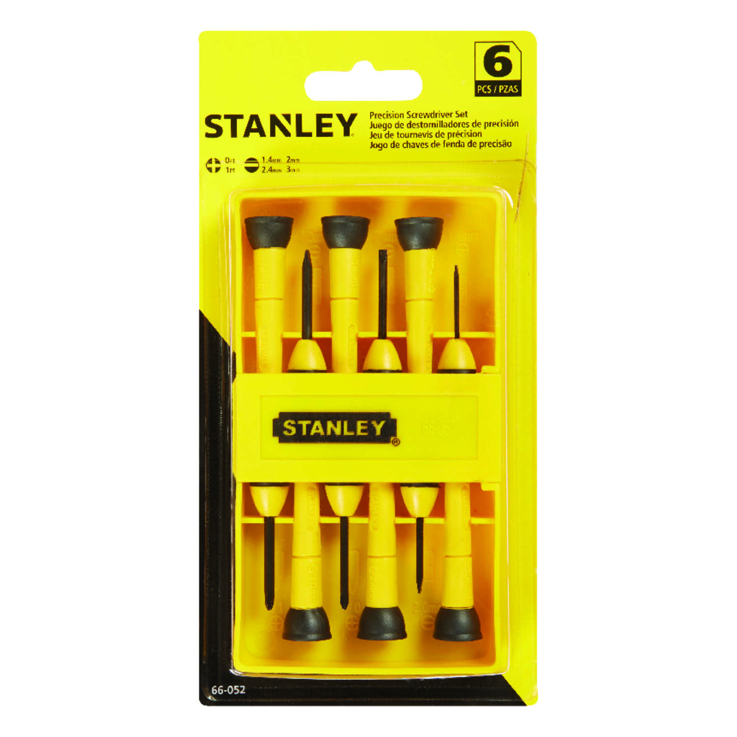 Stanley  6 pc. Precision Screwdriver Set  Assorted in. Alloy Steel
