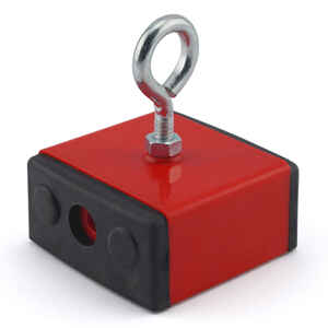 Master Magnetics  2.375 in. Ceramic  Retrieving Magnet  100 lb. pull 3.4 MGOe Red  1 pc.