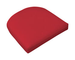 Casual Cushion  Red  Polyester  Seating Cushion  2.5 in. H x 18 in. W x 18 in. L