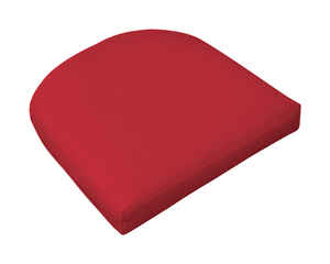 Casual Cushion  Red  Polyester  Seating Cushion  2.5 in. H x 18 in. L x 18 in. W