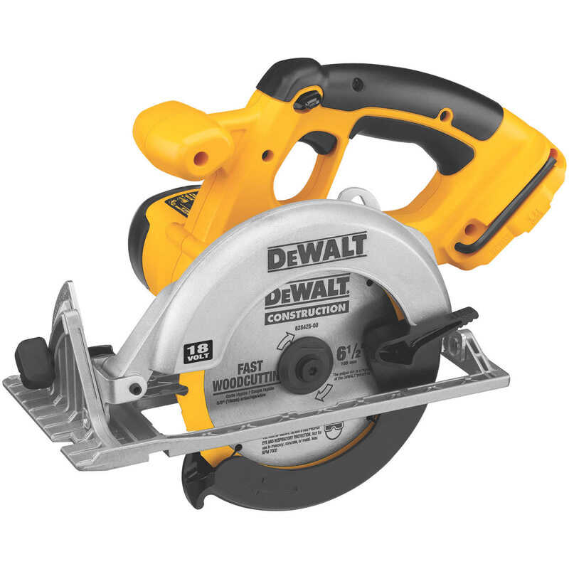 DeWalt  18 volts Cordless  Circular Saw  3700 rpm 6-1/2 in.