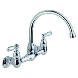 Peerless  Claymore  Choice  Two Handle  Chrome  Kitchen Faucet