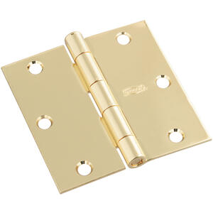 National Hardware  3-1/2 in. L Polished Brass  Door Hinge  1 pk
