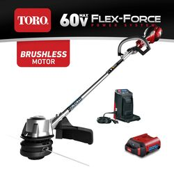 Toro Flex Force 13 in. 60 volt Battery String Trimmer Kit (Battery & Charger)