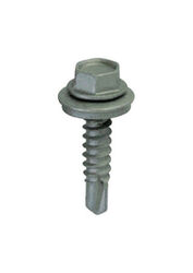 ITW  Teks  No. 12 Sizes  x 2 in. L Self-Tapping  Hex Washer Head Steel  Self- Drilling Screws  50 pk
