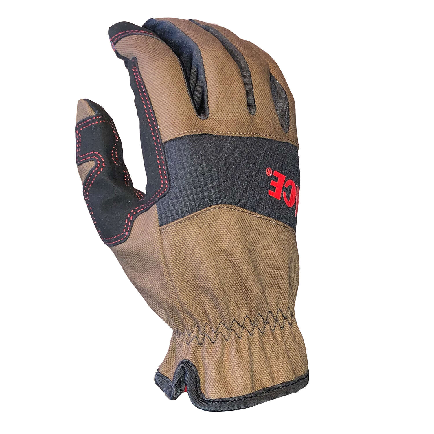 Ace  XL  Duck Canvas  Utility  Black/Brown  Gloves