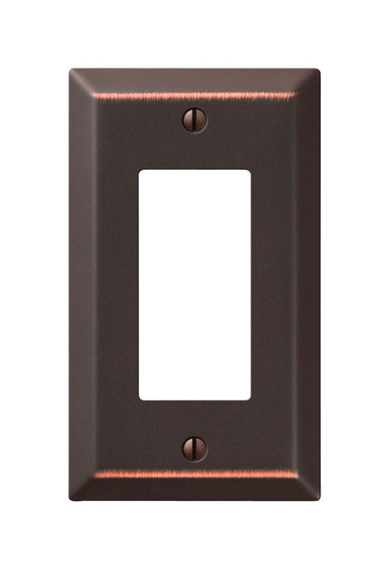 Amerelle  Bronze  1 gang Stamped Steel  Wall Plate  1 pk
