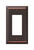 Amerelle  Century  Aged Bronze  Bronze  1 gang Stamped Steel  Rocker  Wall Plate  1 pk
