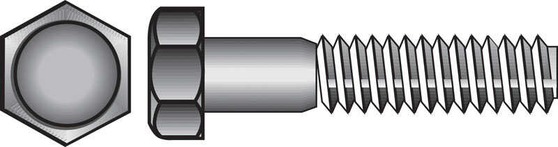 Hillman  5/8 in. Dia. x 3 in. L Zinc Plated  Steel  Hex Bolt  25 pk