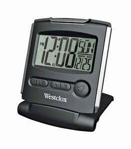 Westclox  Black  Travel Alarm Clock  Digital