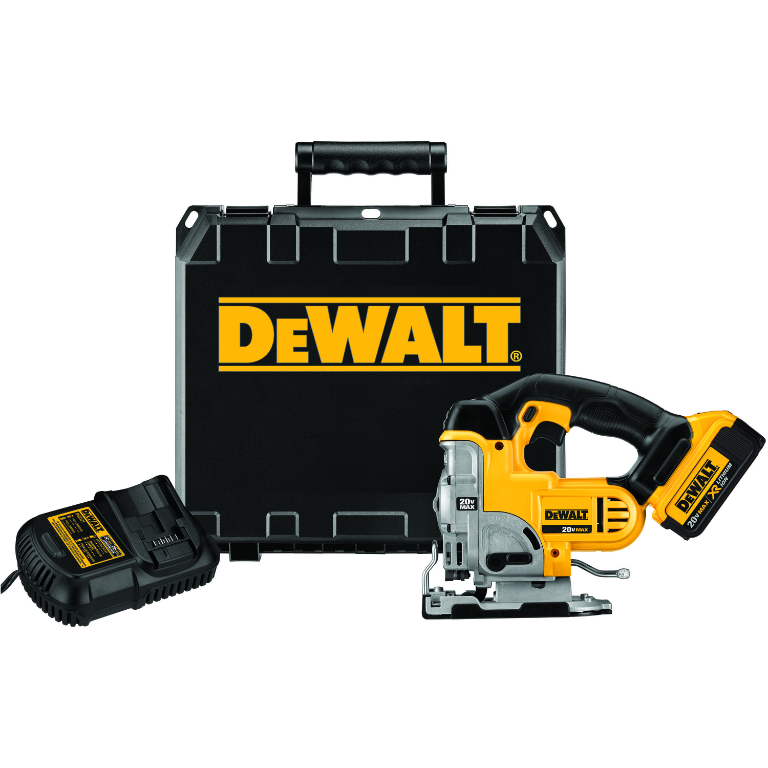 DeWalt  1 in. Cordless  Keyless Orbital Jig Saw  Kit 20 volts 4 amps 3000 spm