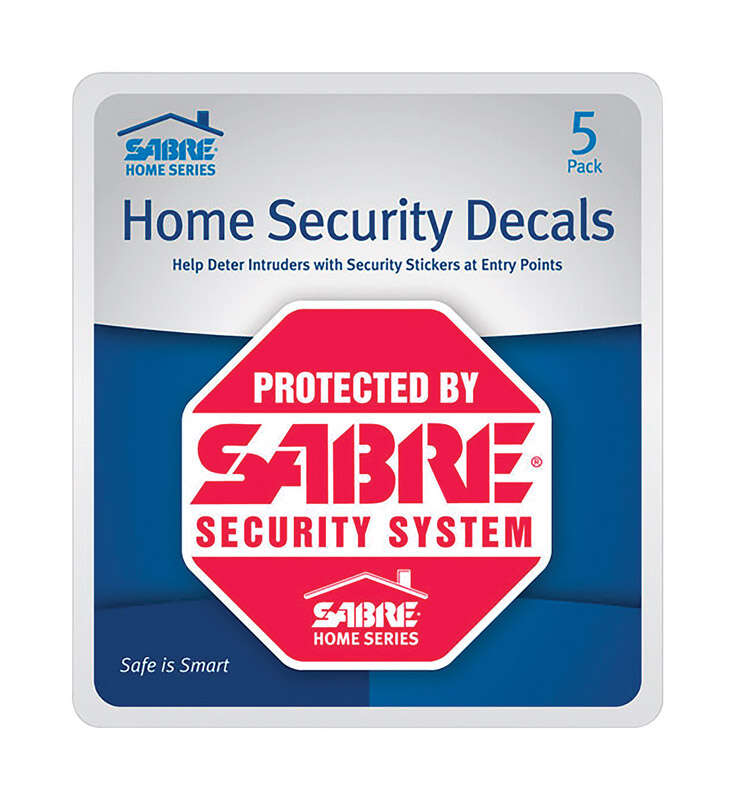Sabre  Red  Plastic  Home Security Decals