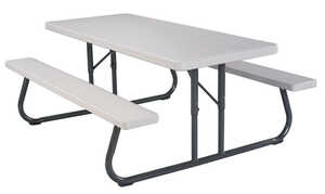 Lifetime  Folding  Steel  Picnic Table  29 in. White